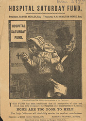 Advert for the Hospital Saturday Fund 5933
